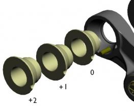 SPACER-SET FÜR HSL RMZ250/450 (+2 mm)