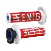 ODI Lock-On EMIG Schraub-Griffe 4T rot/weiß