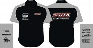 S-TECH Racing Paddock Shirt schwarz/silber