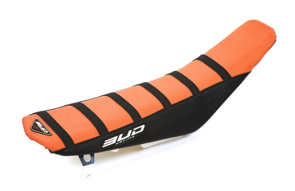 BUD Sitzbankbezug Full Traction - KTM Ausführung=orange/schwarz mit schwarzen Streifen - ONeal Onlineshop Wolfgang Fleisch