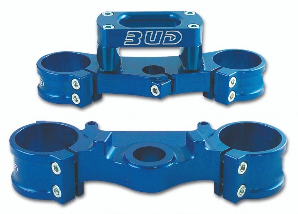 BUD Racing Gabelbrücke Yamaha Ausführung=YZ 125 (05-),YZF 250 (06-09) Offset 22.5mm blau - ONeal Onlineshop Wolfgang Fleisch