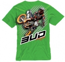 BUD RACING T-Shirt grün Action