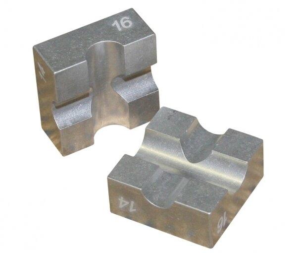 Alu-Klemmbacken für Kolbenstangen 14/16 mm
