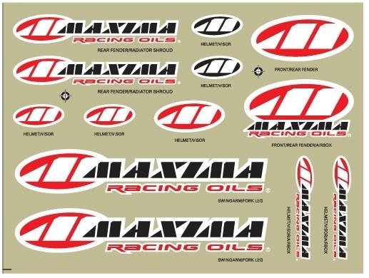 Maxima Aufkleber-Sortiment 28 x 35 cm - Maxima Aufkleber-Sortiment 28 x 35 cm