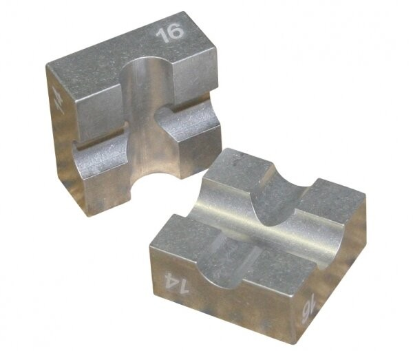 Alu-Klemmbacken für Kolbenstangen - Alu-Klemmbacken für Kolbenstangen