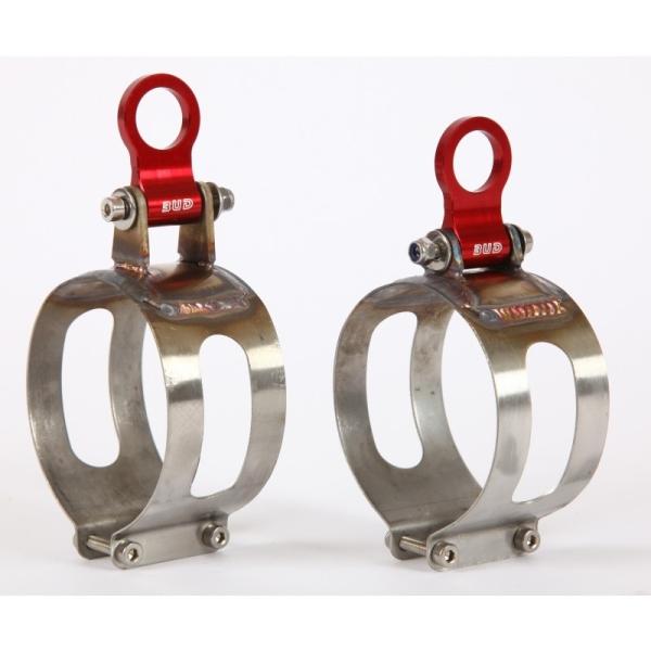 Ersatzschelle für BUD Carbon Endschalldämpfer125cc