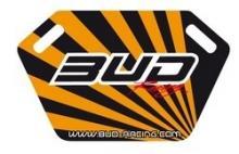 Pitboard Bud Racing incl.Stift schwarz/orange