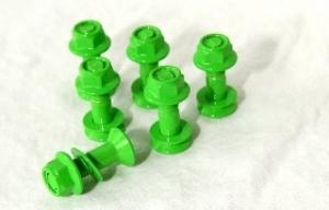 Kettenradschrauben-Satz grün