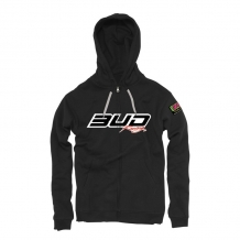 BUD RACING Logo Zipper Kapuzensweatshirt