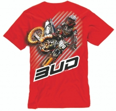 BUD RACING T-Shirt rot Action
