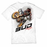 BUD RACING T-Shirt weiß Action