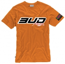 BUD RACING T-Shirt Logo-tee orange
